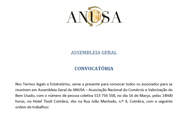 ASSEMBLEIA GERAL ANUSA